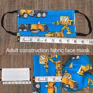Adult construction reversible fabric face mask